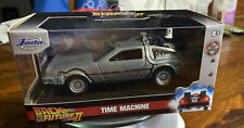 Back To The Future Part 2 DeLorean Time Machine Diecast 1:32 Jada Toys New