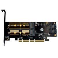 3 in 1 Msata PCIE M.2 NGFF NVME SATA SSD to PCI Express 4X SATA3 Apapter
