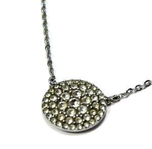 Bijou créateur acier médaillon détails oxydes marque Fossil necklace