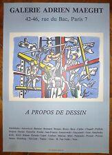"""Fernand Leger Affiche en Lithographie art abstrait """"les constructeurs"""" abstract"""