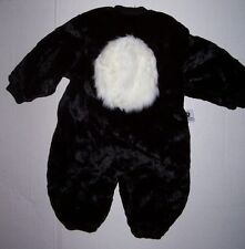 TOM ARMA SKUNK COSTUME BODYSUIT 18M-2T 18 24 2 2T HALLOWEEN