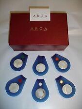 Arca: fermatovaglioli segnaposto  in corno/plexiglass  (made in Italy)