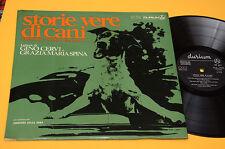 GINO CERVI GRAZIA MARIA SPINA 2LP STORIE VERE DI CANI ORIG 1967 EX GATEFOLD COVE