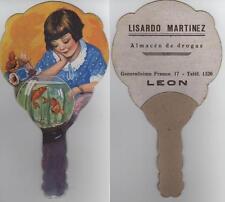 Año 1940/50. PAY PAY Abanico LEON. PUBLICITARIO. Reverso = Lisardo Martínez.