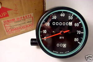KAWASAKI KE125 76-79 NOS Speedometer Assy