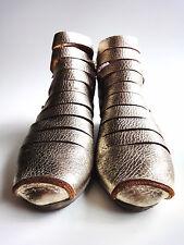 TRIPPEN Germany - Women's Leather X+OS Bootie FENCE Metallic Gold EU38 US7 UK5