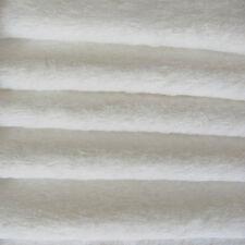 "1/6 yd VIS1 White INTERCAL 6mm ""Flat"" Med. Dense German Viscose Fur Fabric"