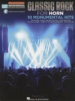 Classic Rock for Horn Easy Instrumental Play-Along Music Book & Audio