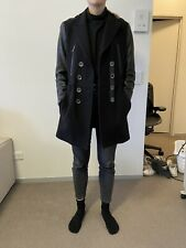 Burberry Brit wool and leather coat