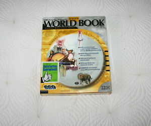 IBM 1999 World Book Family Reference Encyclopedia Suite 3x PC CDROM + User Guide