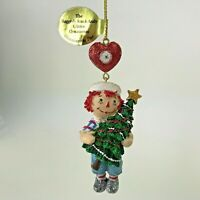 Danbury Mint Raggedy Ann and Andy Glitter Ornament Trimming The Tree Andy