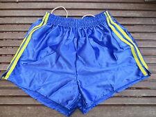 VINTAGE Short NYLON bleu polyamide shiny brillant made France 95 années 80 sport