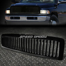 FOR 94-02 DODGE RAM 15/25/35 BLACK ABS FRONT BUMPER FRAME VERTICAL GRILLE COVER