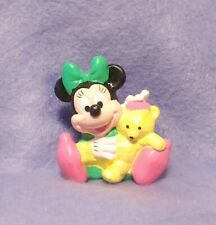 Vintage Disney Baby MINNIE MOUSE with Teddy Bear PVC Figure Applause