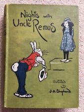 Nights With Uncle Remus Joel Chandler Harris J A Shepherd (Illus) 1919
