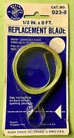 Klein Tools Tape Rule 1/2 IN x 8 FT. Cat No.923-8 Replacement Blade U.S.A. Tool