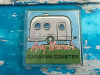 Personalised Caravan Coaster  - Drink Coaster - Caravan - Table - Tableware
