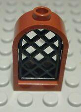 1 x Lego Duplo Toolo Fenster Windschutzscheibe transparent schwarz braun 4x4x2 H