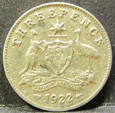 1922 Australia 3d Threepence ** ERROR DIE CRACK ** #RB322-2
