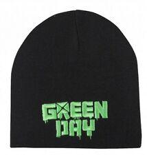 Official Green Day Logo Beanie Hat Black Cap