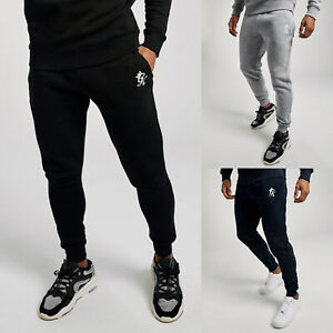 Gym King Mens Fleece Slim Joggers Designer Jogging Tracksuit Bottoms Sweat Pants