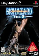 Used PS2  Biohazard outbreak file 2  SONY PLAYSTATION JAPAN IMPORT