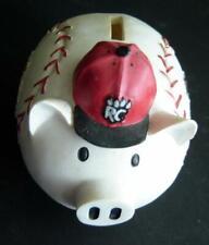 RARE New Britain ROCK CATS Defunct Minor League Baseball Team Ceramic PIGGY BANK