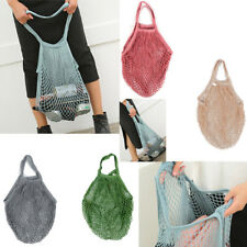 Mesh Net Turtle Bag String Shopping Bag Reusable Fruit Storage Handbag Cotton