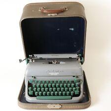 Vintage Remington Deluxe Letter-Ritter Tabulator Portable Typewriter W/ Case
