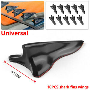 Vortex Generator Diffuser Shark Fin Set For Wing Spoiler Roof Windshield Black