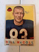 1959 Topps #151 Bill McColl Bears