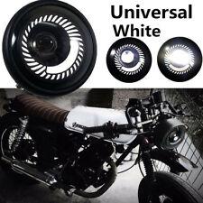 Super Bright 12-80V 600LM White Angel Eye Round Motorcycle LED Headlight 16*14cm