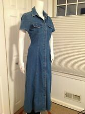 Crazy Horse Size Medium Denim Long Dress