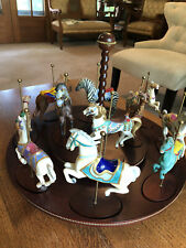 Franklin Mint Carousel And Figurines