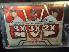 topps triple threads baseball Mickey Mantle, Alex Rodriguez, Ted Williams Relic