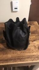 Auth COACH  Vintage Black Leather Shoulder Bucket Bag/purse