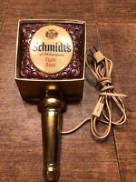 Vintage Schmidt's of Philadelphia Wall Light Beer Light Sconce Sign 1969
