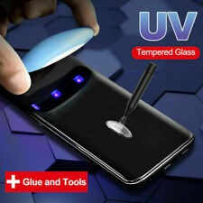 Liquid Screen Protector For Samsung Note 10 S10 S20+ Full UV Glue Tempered Glass