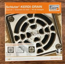 Schluter Kerdi Shower Drain Kit Oil-Rubbed Bronze PVC