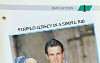 Knitting Patterns-Man's-Jumpers-Cardigan-Jersey-Slipover-V Neck-Aran-Pullover