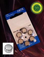 6 piece A675 76A PX76A 675A A76 Zinc Air Hearing Aids 1.4V Card Battery
