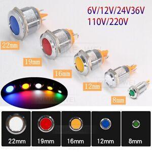 LED Wasserdicht Leuchtmelder Kontrollleuchte Signalleuchte Signallampe Warnlampe