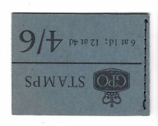 GB BOOKLET :4/6d January 1966 SG L62 MNH- part P.O.black bar on cover edge SCANS