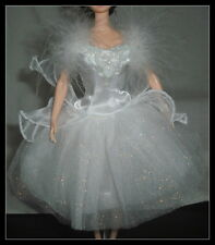 DRESS BARBIE DOLL SWAN LAKE WHITE LAYERED TULLE BALLET BALLERINA COSTUME