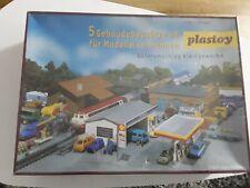 Faller/ Plastoy 5 Gebäudebausätze Kleingewerbe Güterumschlag OVP in Folie