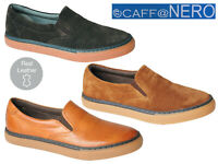 Mens Leather Casual Shoes Slip On Loafers Boat Deck Plimsoll Driving Moccasins
