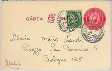 IRELAND - POSTAL STATIONERY CARD: Michel # P2a  with added stamps to ITALY 1936