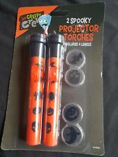 Halloween Accessories - Spooky Projector Torches x 2 - includes 4 lenses