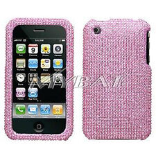 Pink Crystal Bling Case Cover for Apple iPhone 3G 3GS