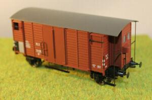"""Brawa 48828 Ged. Güterwagen Glms 30 """"Oppeln"""" DB 21 80 145, Ep 4, H0, DC Räder"""